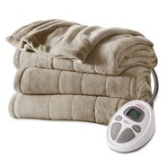 Sunbeam King Channeled Microplush Heated Blanket at Sears.com