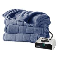 Sunbeam King Channeled Microplush Heated Blanket at Kmart.com