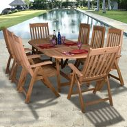 Amazonia Luxor 9-pc Teak Dining Set at Kmart.com