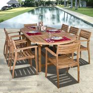 Amazonia Mirage 9-pc Teak Dining Set at Kmart.com