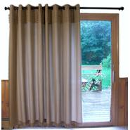 Ricardo Trading Oxford Tuxedo Pleated Unlined Grommet Patio Panel (Café au lait) at Kmart.com