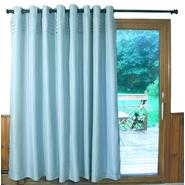 Ricardo Trading Oxford Tuxedo Pleated Unlined Grommet Patio Panel (Aqua) at Kmart.com
