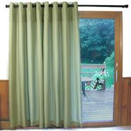 Ricardo Trading Oxford Tuxedo Pleated Unlined Grommet Patio Panel (Celadon) at Kmart.com