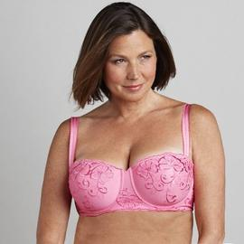 Inspirations Women's Floral Embroidered Balconette Bra at Kmart.com
