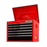 "Craftsman 27"" 9-Drawer Ball Bearing Slides Top Chest Red&Black at Sears.com"