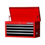 "Craftsman 27"" 4-Drawer Ball Bearing Slides Top Chest Red&Black at Sears.com"