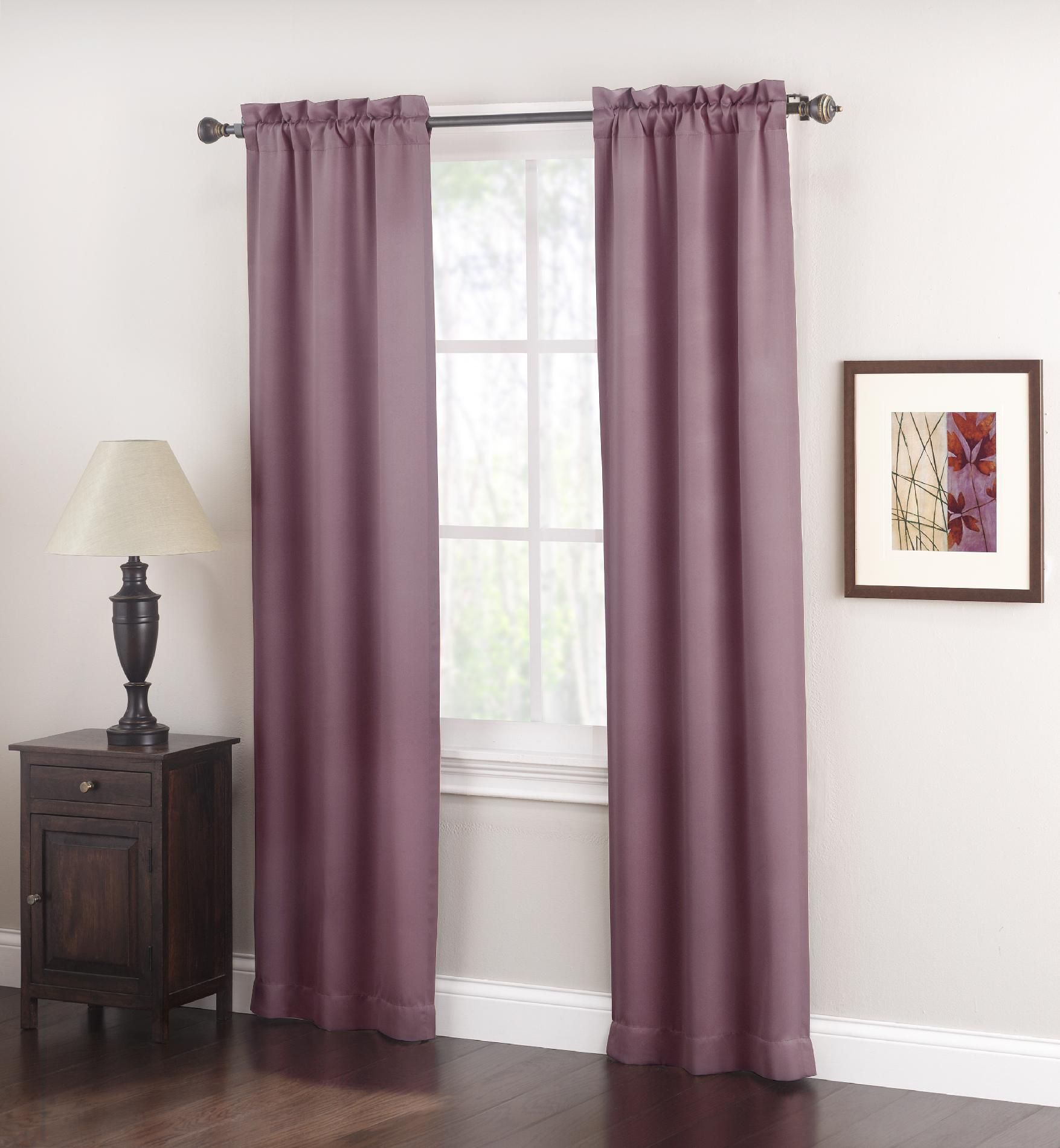 Logan Room Darkening Panel Pair - Plum