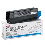Okidata Corporation 42127403 Toner Cartridge, High-Yield, Cyan