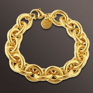 Romanza Link Bracelet set in Gold over Bronze at Sears.com