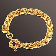 Romanza 3D Link Chain Bracelet set in Gold over Bronze at Sears.com