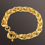 Romanza 3D Link Chain Bracelet set in Gold over Bronze at Kmart.com