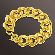 Romanza Oval Link Bracelet set in Gold over Bronze at Kmart.com