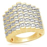 1 cttw 5 Row Diamond Pyramid Ring at Kmart.com
