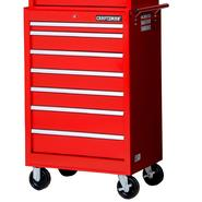 "Craftsman 27"" 7-Drawer Ball Bearing Slides Roller Cabinet Red at Craftsman.com"