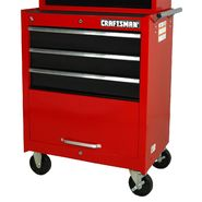 "Craftsman 27"" 3-Drawer Ball Bearing Slides Roller Cabinet Red and Black at Craftsman.com"