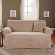 "Sure Fit Slipcover Soft Suede Taupe ""T"" Cushion Sofa at Sears.com"