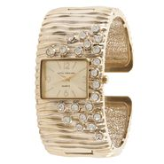 Sofia by Sofia Vergara Ladies Watch with Square Goldtone Case, Inset Champagne Dial and GT Textured Bracelet Band at Kmart.com