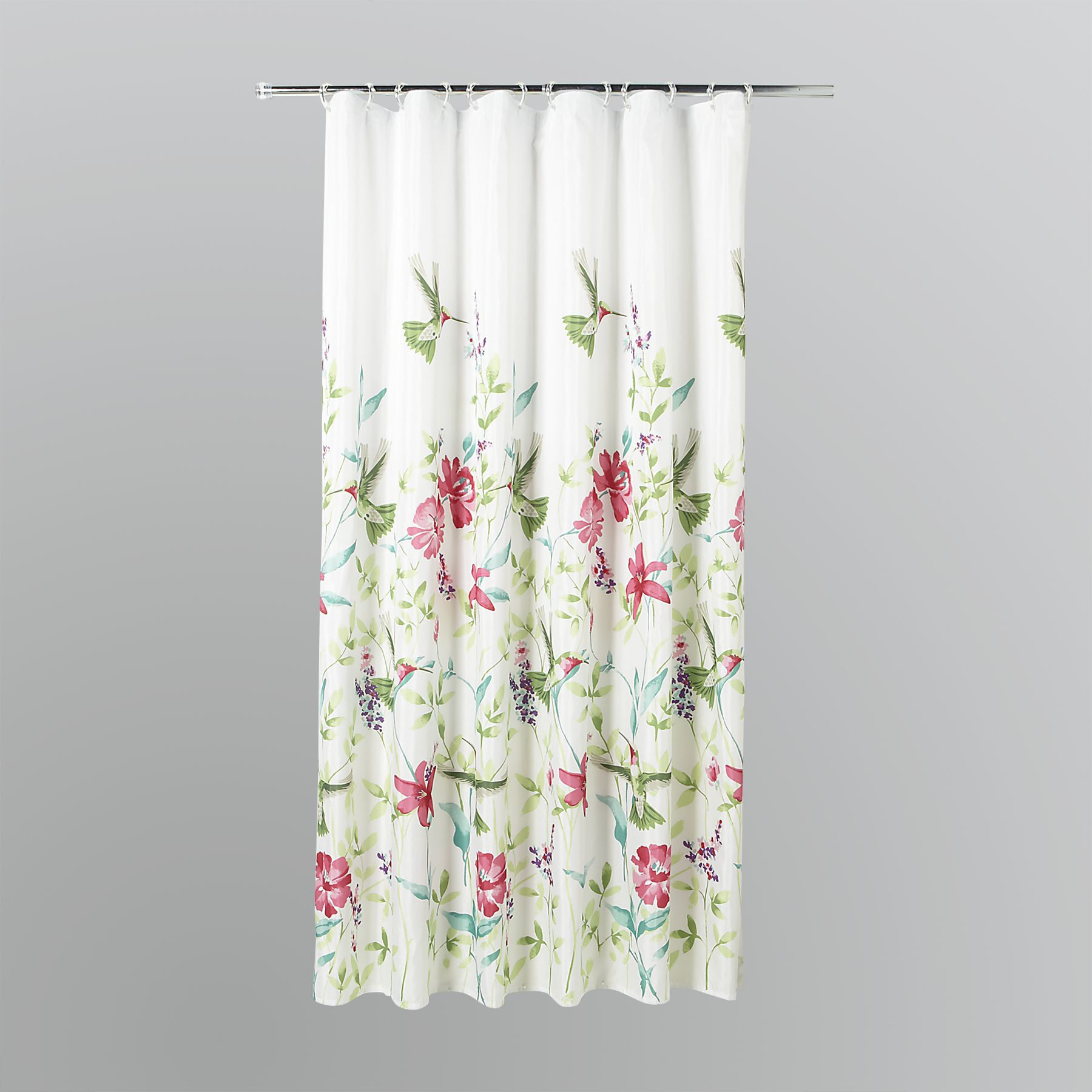 Essential Home  Hummingbirds Fabric Shower Curtain
