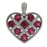 Sterling Silver Lab Created Ruby Lattice Pendant at Sears.com