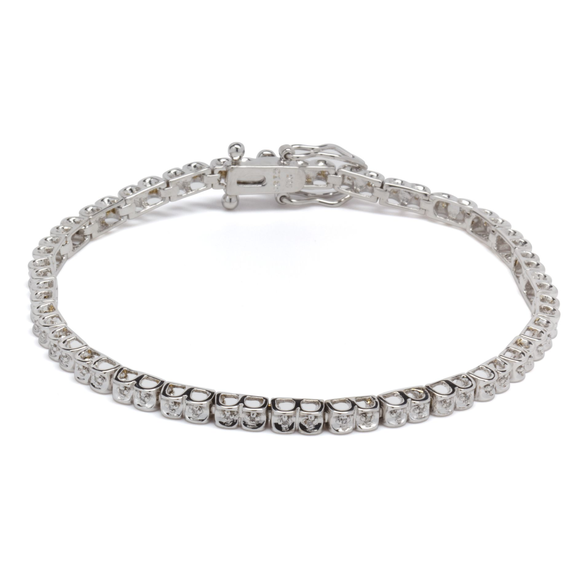 1/4cttw Diamond Bracelet in Sterling Silver