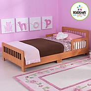 Slatted Toddler Bed-Honey at Kmart.com