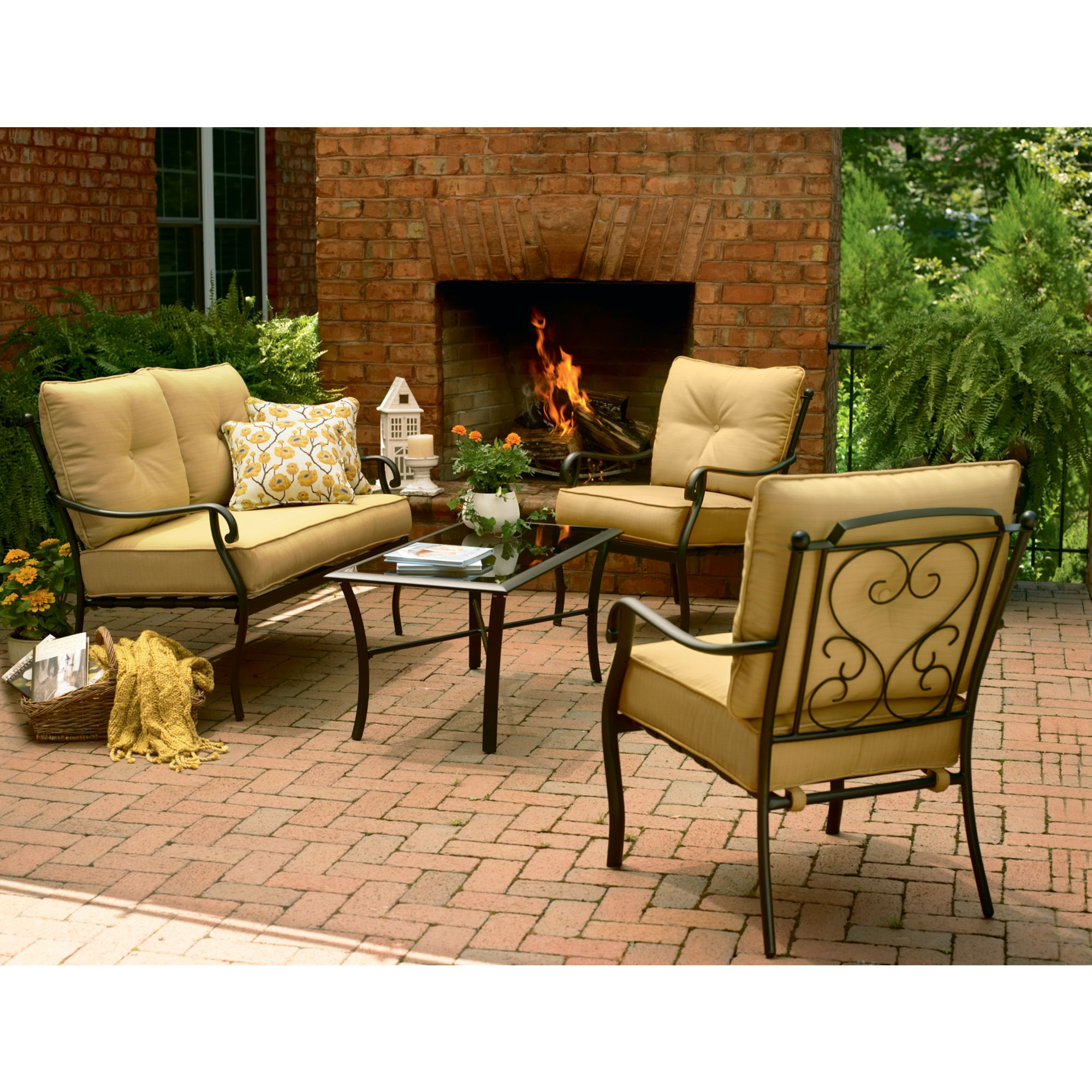 Vinton 4 Pc. Patio Deep Seating Set