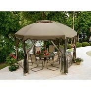 Garden Oasis Grandview Hexagon Gazebo with Netting at Sears.com