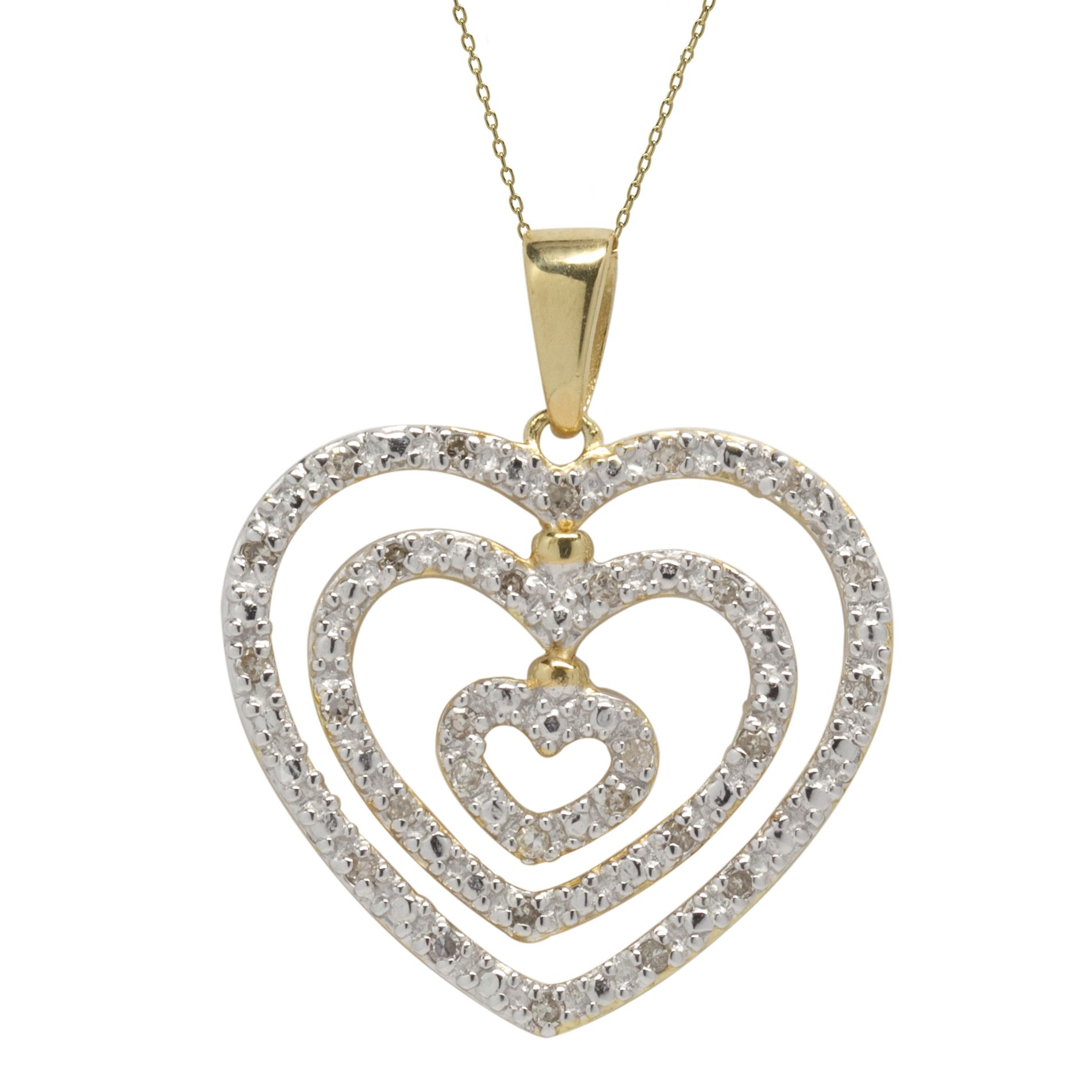 1/5cttw Diamond Heart Pendant 18k Gold