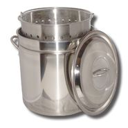 King Kooker® King Kooker® 24 Qt. Stainless Steel Boiling Pot with Steam Ridge. Great for Boiling and Steaming! at Kmart.com