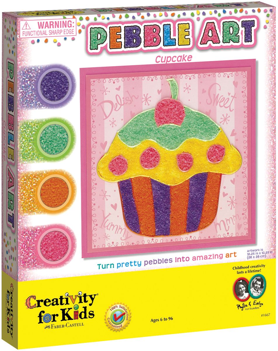 CREATIVITY FOR KIDS Pebble Art Cupcake Kit