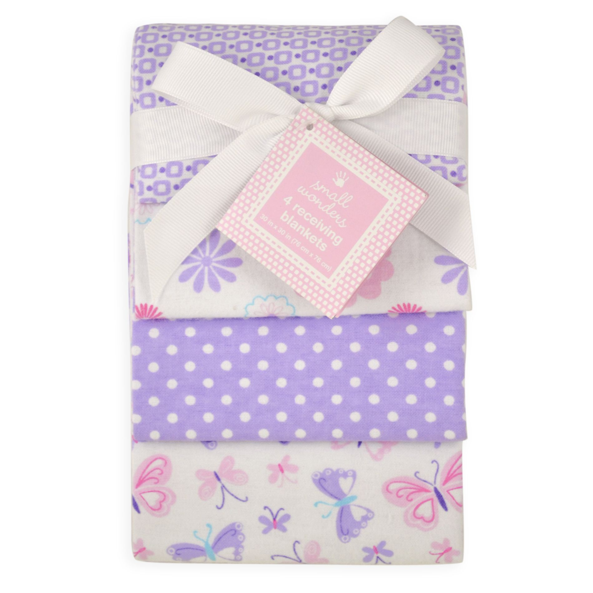 Baby Girl 4-Pack Receiving Blankets