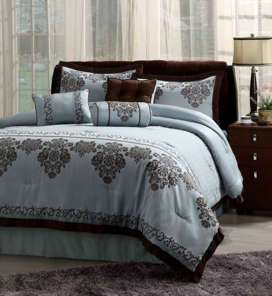Fontain Blue 7 Piece Comforter Set