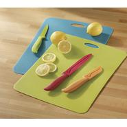 Farberware 8pc Colored Knife and Mat set at Sears.com