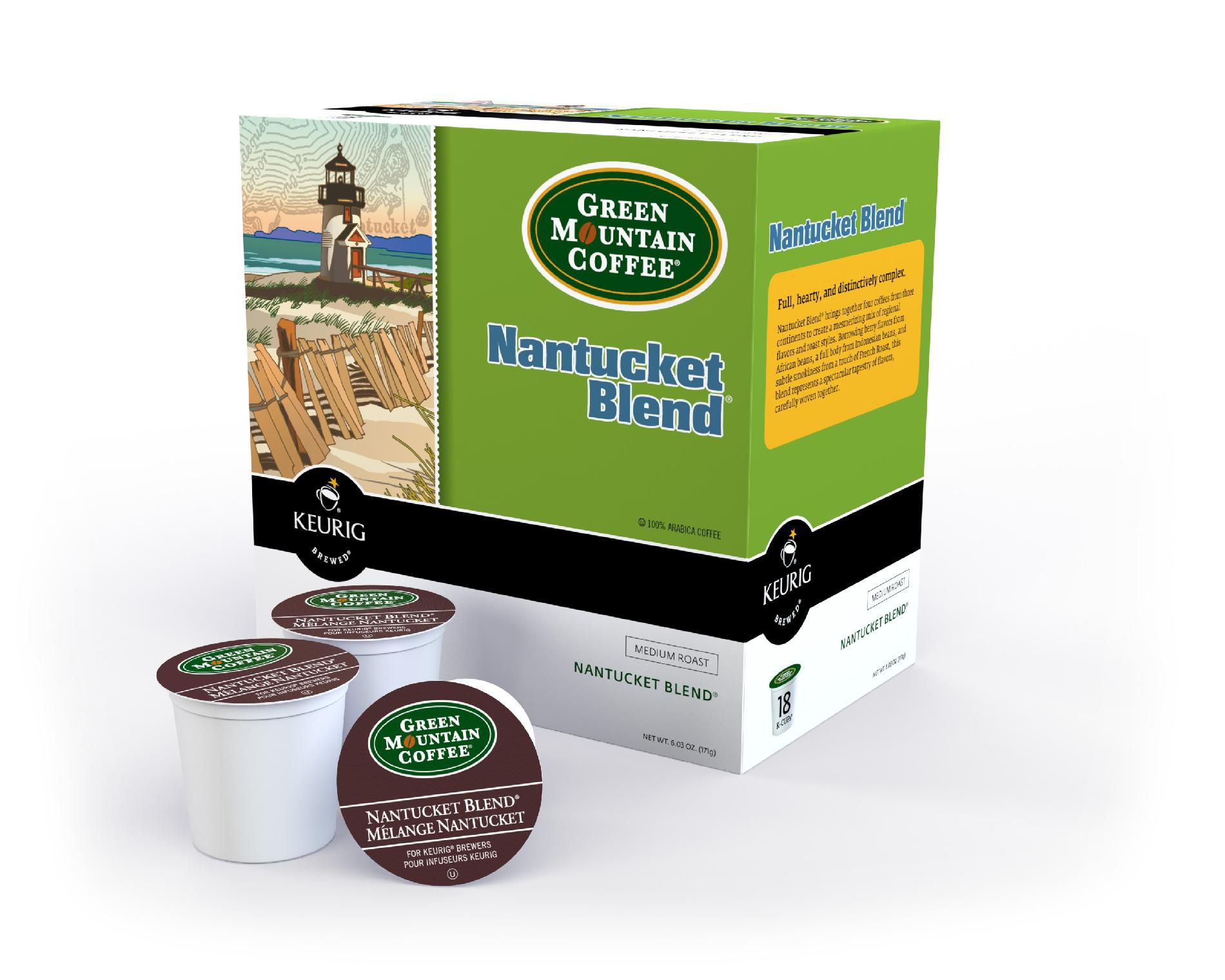 Green Mountain Nantucket Blend 18 Count K-Cups