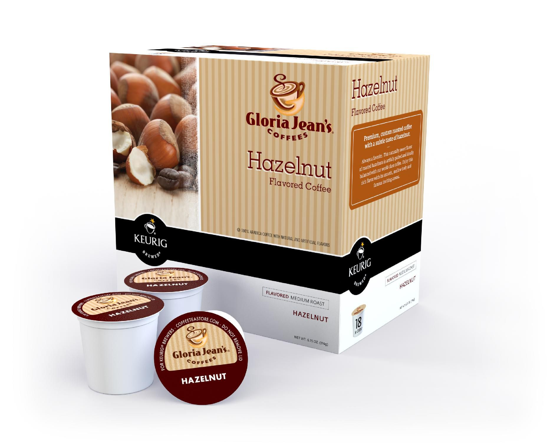 Keurig Gloria Jean's Hazelnut Coffee 18 Count K-Cups
