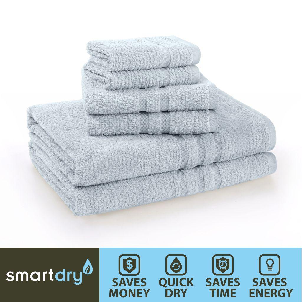 Premier Comfort Smart Dry Towel Set in Blue color