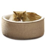 "Soft Touch Elephant Skin 16""RD Tan/Ivory Kitty Kup with Cushion at Kmart.com"