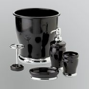InterDesign Lora Black and Chrome Bath Accessory Collection at Kmart.com