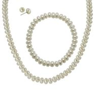 Sterling Silver 7.5-8mm Freshwater Pearl Necklace/Bracelet & Earring Set at Sears.com