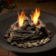 Real Flame 2-Can Outdoor Log Set in Oak 8Hx15Wx10D at Sears.com