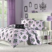 Mizone Megan Comforter Set in Purple Color at Sears.com
