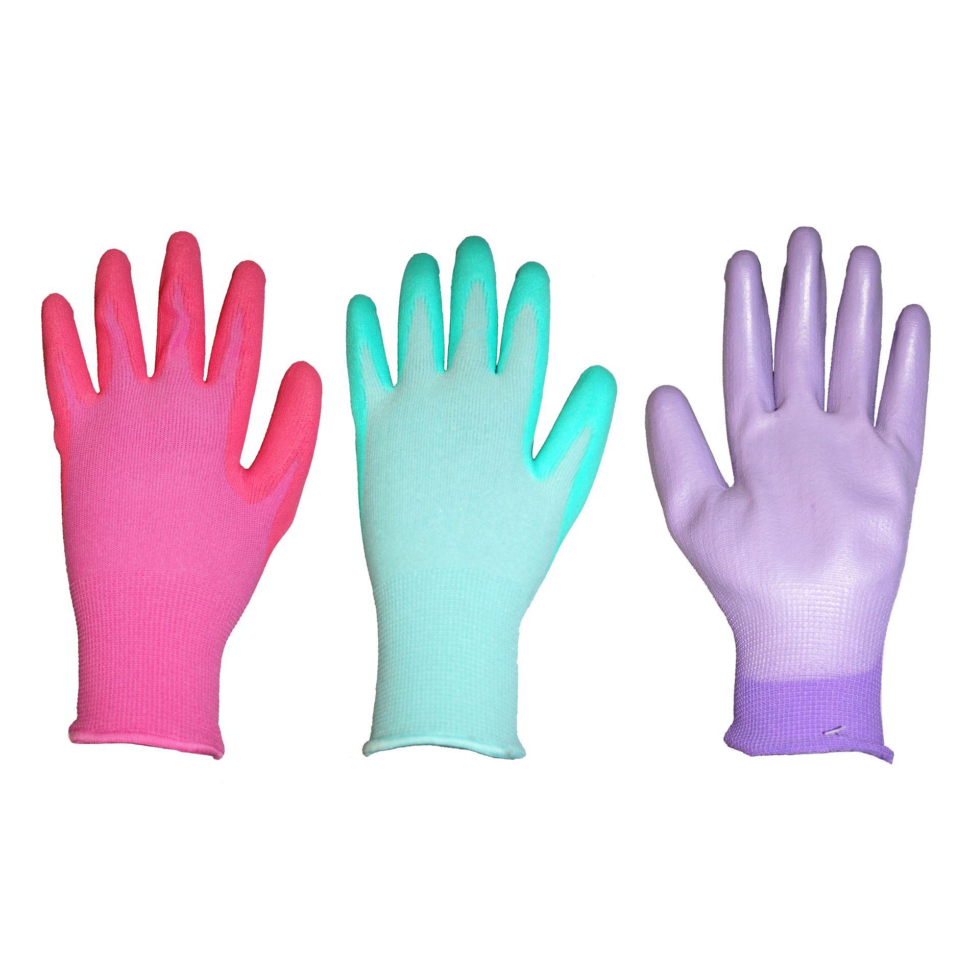 Westchester Women's 3-Pack PU (Polyurethane Dip) Gloves