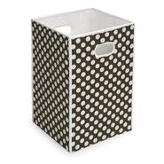 Badger Basket Folding Hamper/Storage Bin - Brown with White Polka Dots at Kmart.com