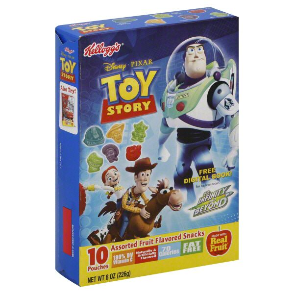 Kellogg's Fruit Flavored Snacks, Assorted, Disney Pixar Toy Story 10 pouches [8 oz (226 g)] PartNumber: 033W004289196000P KsnValue: 4289196