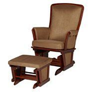 Delta Childrens Upholstered glider and ottoman-vintage espresso at Sears.com
