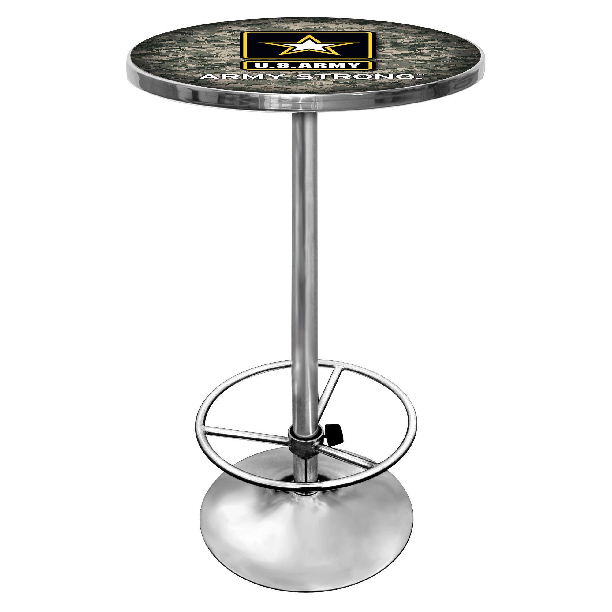 U.S. Army Chrome Pub Table