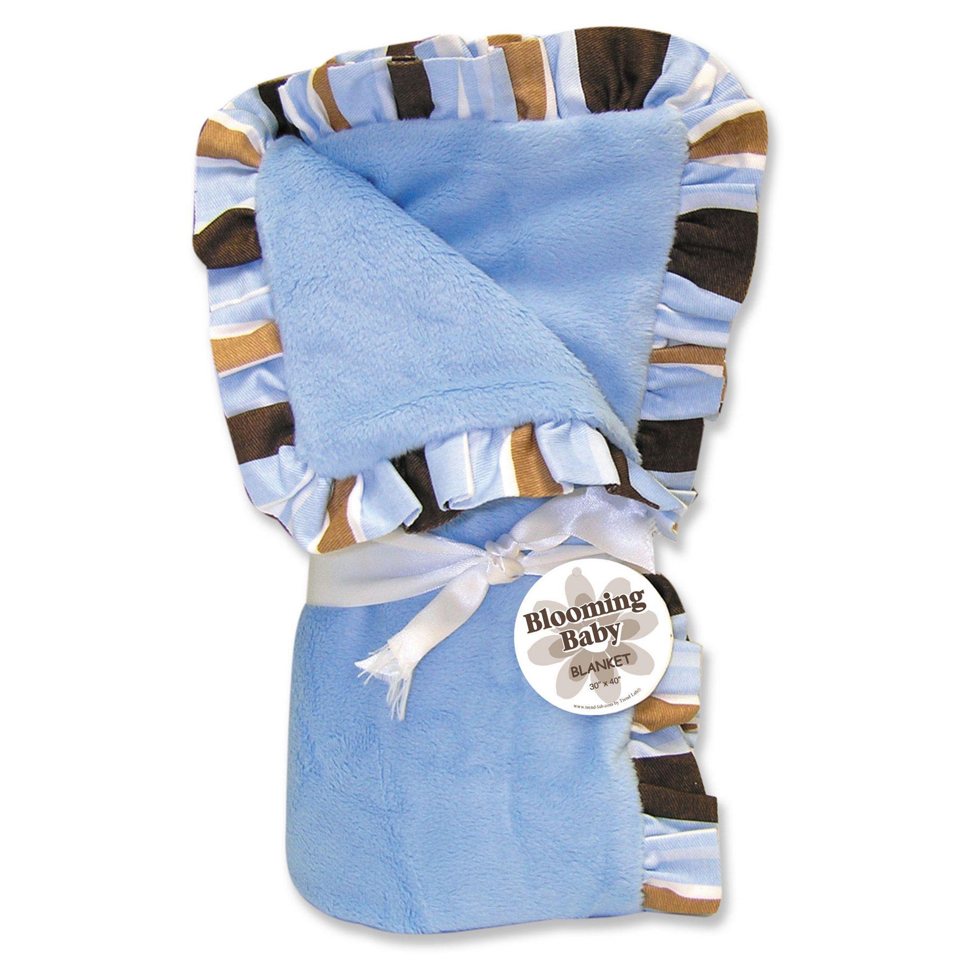 Trend Lab Max Ruffle Stripe Blanket