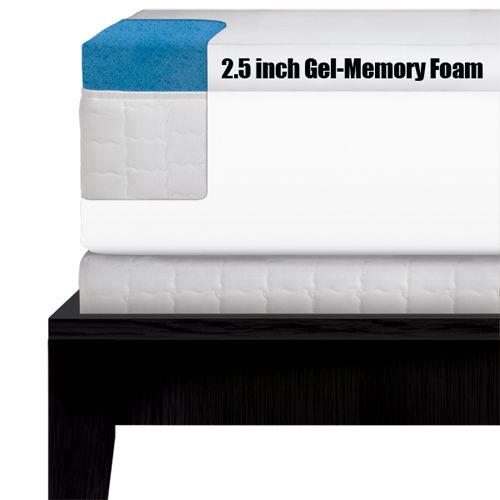 "Serta 2 5"" Gel Memory Foam Mattress Topper Queen"