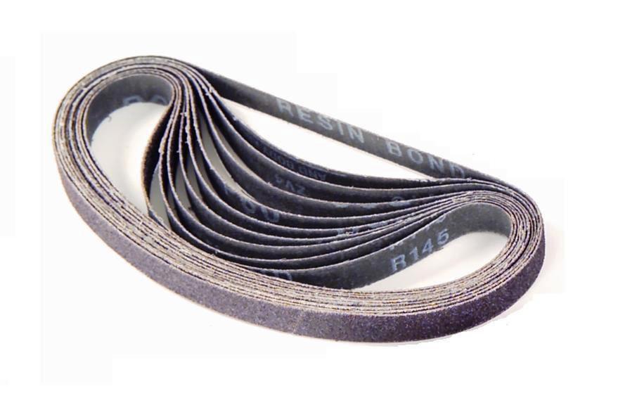 """Gyros 12-02412/10 1/2 x 24"""" 120 Grit Aluminum Oxide Sanding Belt, 10 Pack PartNumber: 00932720000P KsnValue: 4405727 MfgPartNumber: 12-02412/10"""