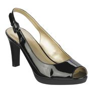 Jaclyn Smith Women's Teddy Patent Slingback Pump - Black at Kmart.com